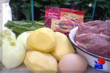 Ингредиенты для котлет со шпинатом